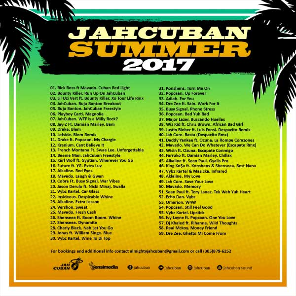 Jahcuban - Summer 2017 Mixtape