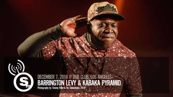 Barrington Levy & Kabaka Pyramid at Dub Club