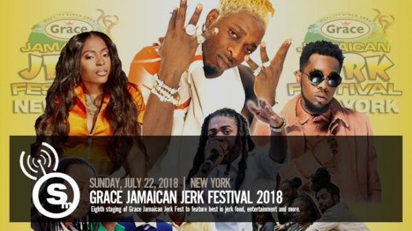 Grace Jamaican Jerk Festival NY features Elephant Man, Jahmiel & More